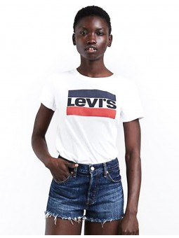 Perfect Graphic T-Shirt Logo tricolore Femme Levi's
