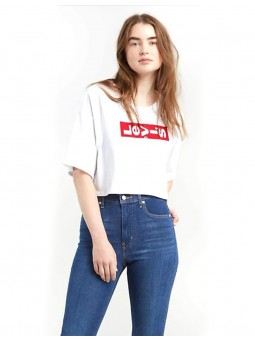 Crop Top Logo Rouge Levi's De Travers