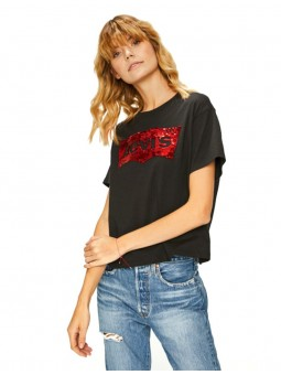 Sequins Top Oversize Logo Levi's Sequins rouge