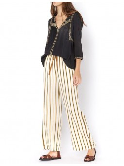 Pantalon large rayé - See u Soon