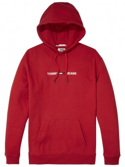 Sweat à Capuche Rouge- Tommy Hilfiger