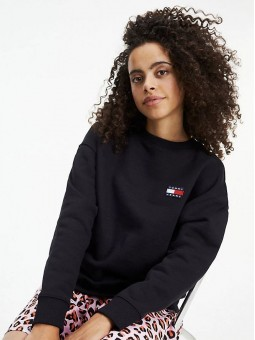Sweat Oversize Noir - Tommy Hilifiger
