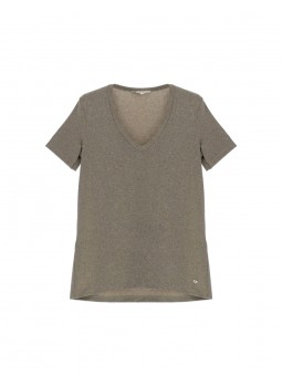 T-shirt Paillette Gris - Please