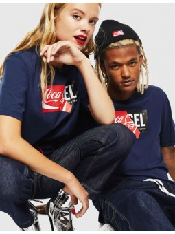T-shirt CC T-Just Mixte Bleu - Coca/Diesel