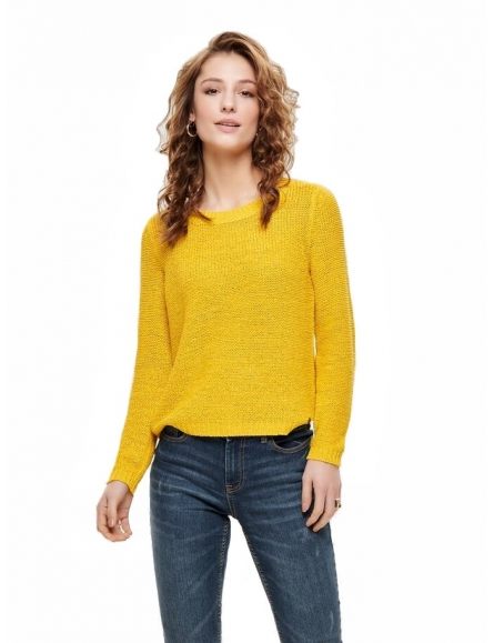 Pull Maille Jaune - Only