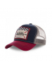 Casquette Filet Von Dutch Square Bleu Et Rouge - Von Dutch