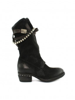 Boots Haute Sangle Rivets...