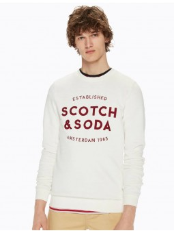 Brodé Scotch&Soda Sweat Col Rond