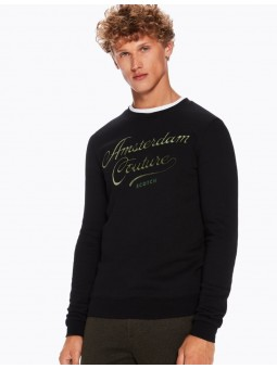 Sweat Col Rond Brodé Scotch&Soda