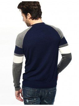Pull Col O Bandes Manches Gaudi homme
