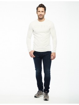 Sweater Col Rond Logo Guess...